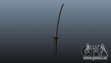 Das lange japanische Schwert Katana für GTA 4 Sekunden Bildschirm