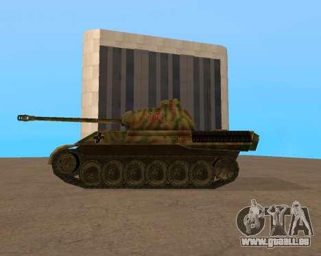 pz.kpfw v Panther pour GTA San Andreas sur la vue arrière gauche