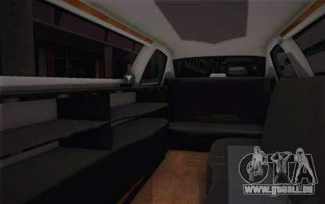 Chrysler 300C Limo 2007 für GTA San Andreas Unteransicht