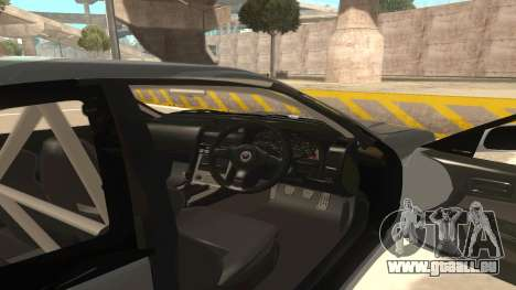 Nissan Skyline R34 pour GTA San Andreas vue intérieure