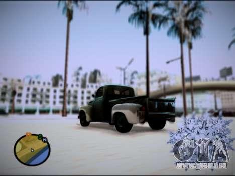 Ford Frieghter 1949 pour GTA San Andreas laissé vue