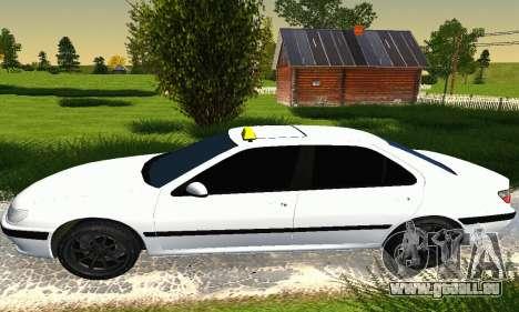 Peugeot 406 Taxi pour GTA San Andreas sur la vue arrière gauche