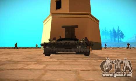 Cheetah Zomby Apocalypse pour GTA San Andreas vue de droite