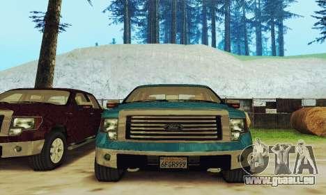 Ford F150 XLT Supercrew Trim für GTA San Andreas Rückansicht