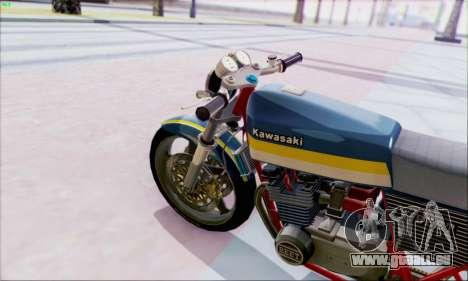 Kawasaki Z-400FX Custom pour GTA San Andreas sur la vue arrière gauche