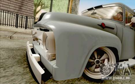 Ford F100 1956 pour GTA San Andreas sur la vue arrière gauche