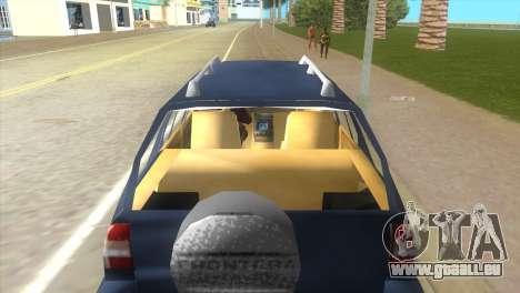 Opel Frontera pour une vue GTA Vice City de la droite
