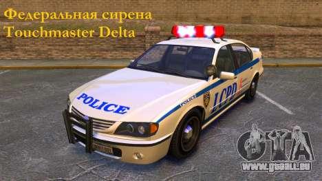 Sirène fédéral Touchmaster Delta pour GTA 4