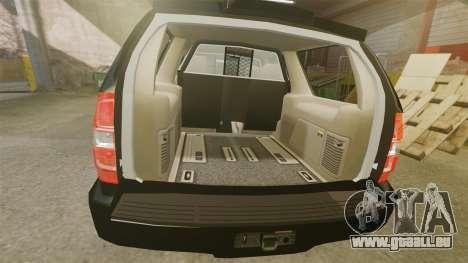 Chevrolet Tahoe 2008 LCPD STL-K Force [ELS] pour GTA 4 est une vue de l'intérieur