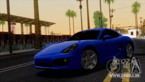 Porsche Cayman S 2014 für GTA San Andreas Innen