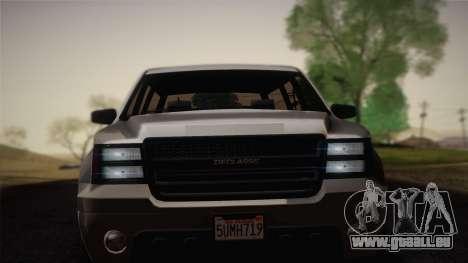 Granger civile de GTA 5 pour GTA San Andreas sur la vue arrière gauche