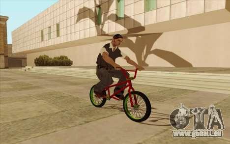 BMX pour GTA San Andreas vue intérieure