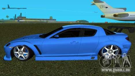 Mazda RX8 Type 1 pour GTA Vice City vue arrière