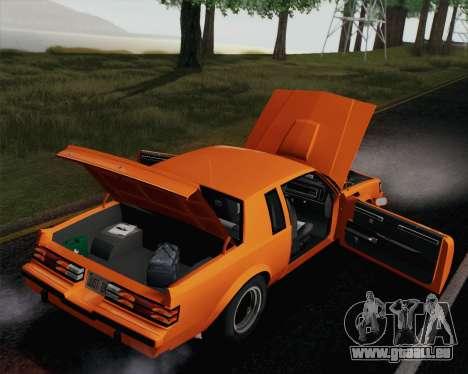 Buick GNX 1987 pour GTA San Andreas moteur