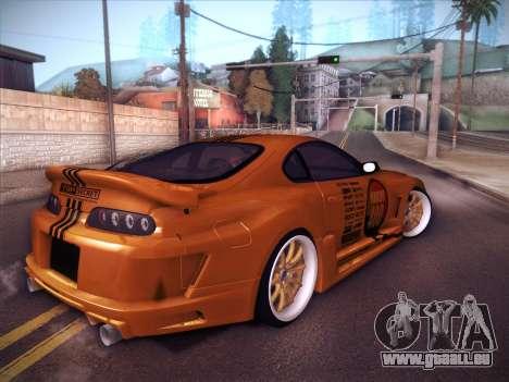 Toyota Supra Top Secret V12 pour GTA San Andreas laissé vue