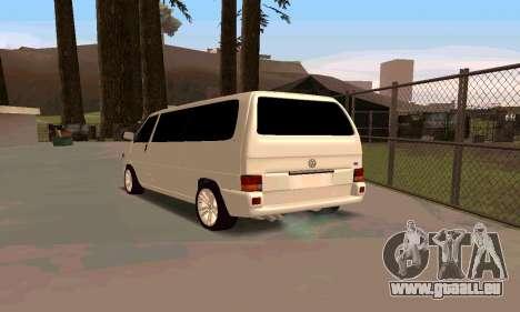 Volkswagen T4 für GTA San Andreas zurück linke Ansicht