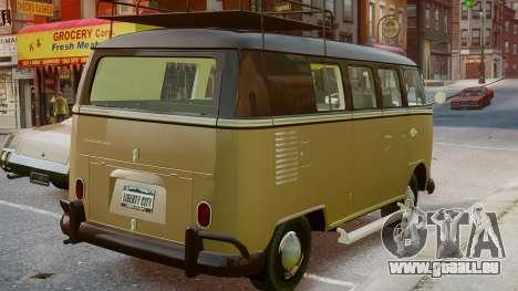 Volkswagen Transporter 1962 pour GTA 4 est une gauche