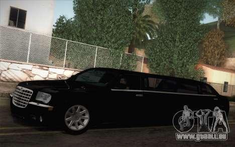Chrysler 300C Limo 2007 pour GTA San Andreas laissé vue