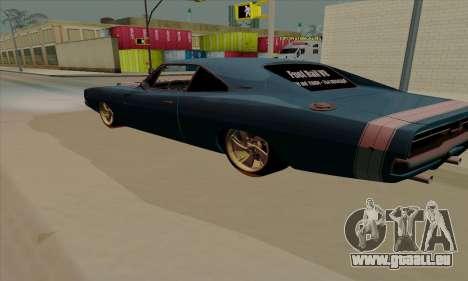 Dodge Charger 1969 Big Muscle pour GTA San Andreas vue de droite