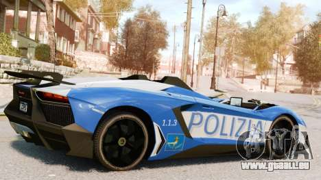 Lamborghini Aventador J Police pour GTA 4 est une gauche