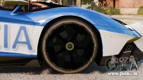 Lamborghini Aventador J Police pour GTA 4 Vue arrière