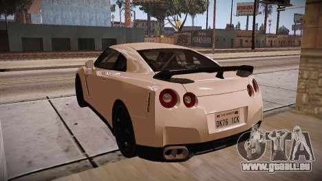 Nissan GT-R SpecV Ultimate Edition pour GTA San Andreas vue intérieure