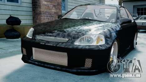 Honda Civic FnF pour GTA 4 Vue arrière de la gauche