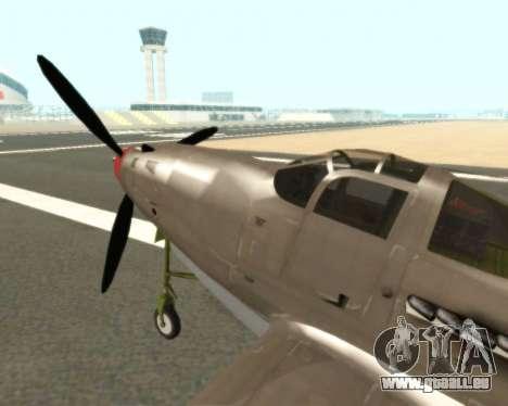 Aircobra P-39N pour GTA San Andreas sur la vue arrière gauche