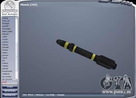 Die neue Rakete für GTA San Andreas