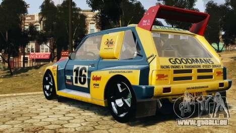 MG Metro 6r4 pour GTA 4 est une gauche