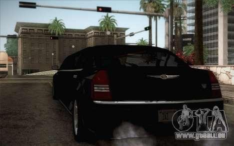 Chrysler 300C Limo 2007 pour GTA San Andreas sur la vue arrière gauche