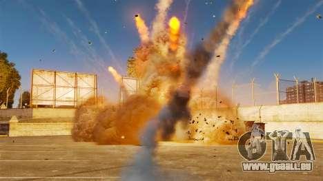 Die neue Einstellung von Bränden und Explosionen für GTA 4 Sekunden Bildschirm