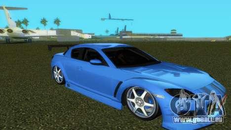 Mazda RX8 Type 1 pour GTA Vice City vue de dessous