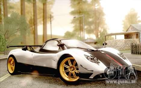 Pagani Zonda Cinque für GTA San Andreas rechten Ansicht