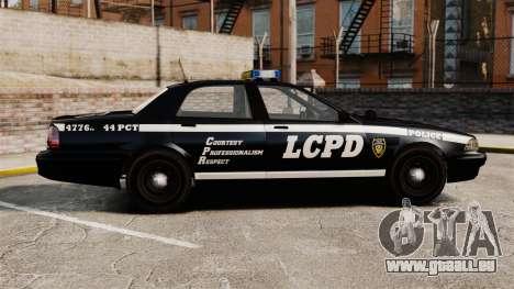 GTA V Vapid Police Cruiser [ELS] pour GTA 4 est une gauche