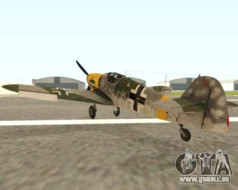 Bf-109 G6 v1.0 für GTA San Andreas rechten Ansicht