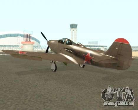 Aircobra P-39N pour GTA San Andreas vue de droite