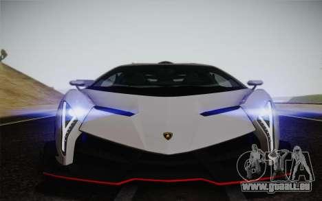 Lamborghini Veneno LP750-4 2013 pour GTA San Andreas vue de dessus