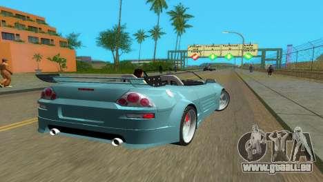 Mitsubishi Eclipse GT 2001 pour GTA Vice City sur la vue arrière gauche