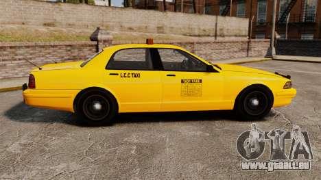 GTA V Gen Vapid LCC Taxi für GTA 4 linke Ansicht