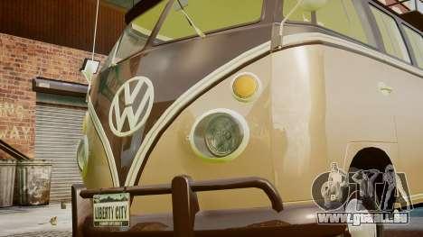 Volkswagen Transporter 1962 pour GTA 4 est une vue de l'intérieur
