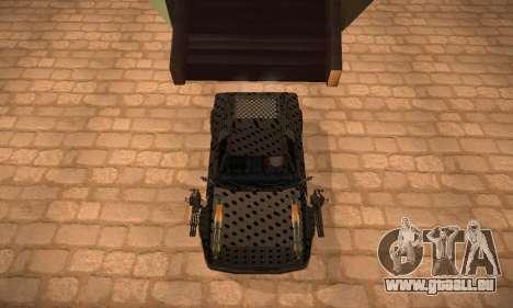 Cheetah Zomby Apocalypse pour GTA San Andreas sur la vue arrière gauche