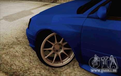 Subaru Impreza JDM pour GTA San Andreas laissé vue