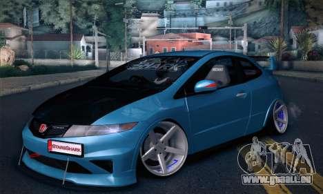 Honda Civic Type R Mugen pour GTA San Andreas sur la vue arrière gauche