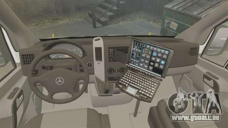 Mercedes-Benz Sprinter 2500 Prisoner Transport für GTA 4 Rückansicht