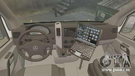 Mercedes-Benz Sprinter 3500 Emergency Response pour GTA 4 Vue arrière