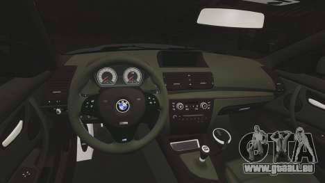 BMW 1 M 2011 pour GTA 4 Vue arrière