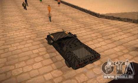 Cheetah Zomby Apocalypse pour GTA San Andreas laissé vue