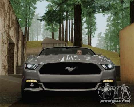 Ford Mustang GT 2015 pour GTA San Andreas vue de dessus