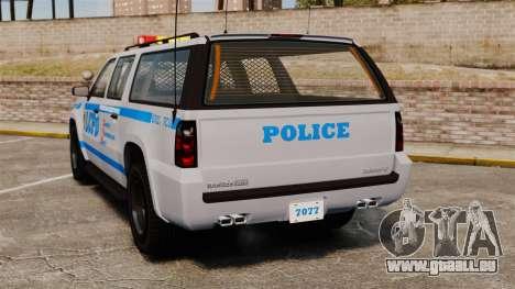 GTA V Declasse Police Ranger 3500PE [ELS] pour GTA 4 Vue arrière de la gauche